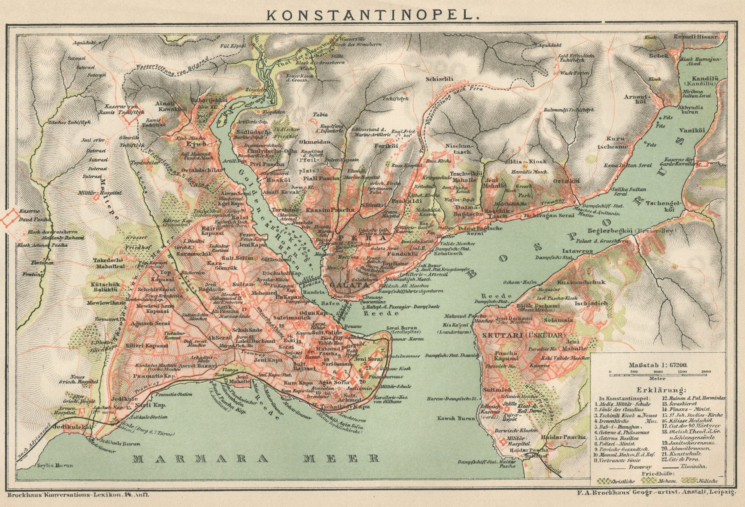 old map of contantinople istanbul stambul